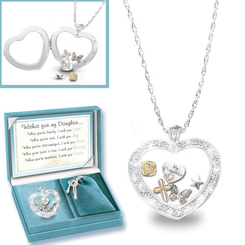 (RJH) WISHES/DAUGHTER LOCKET 0121414001-T
