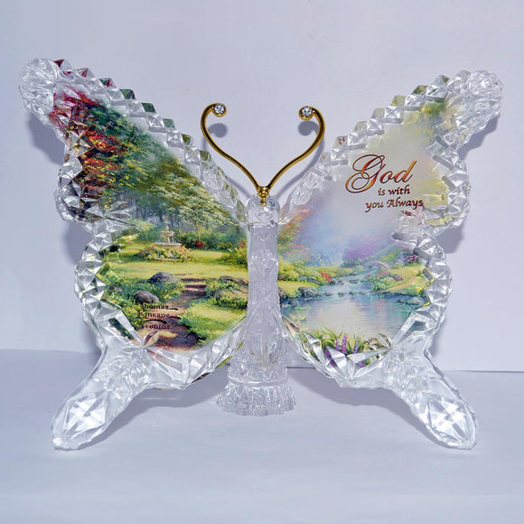 (R) Thomas Kinkade BUTTERFLY - GOD - 0122078013-T
