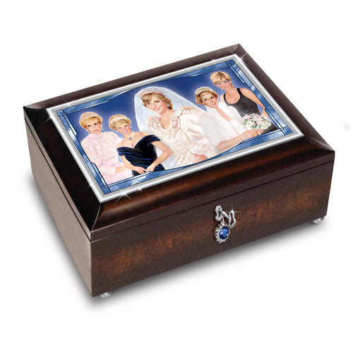(D) ROYAL FAMILY: PRINCESS DIANA MUSIC BOX 0128150001-T