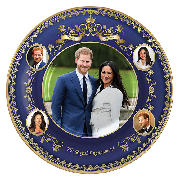 (D) ROYAL FAMILY: *PLATE* PRINCE HARRY AND MEGHAN ENGAGEMENT 0129356001-T