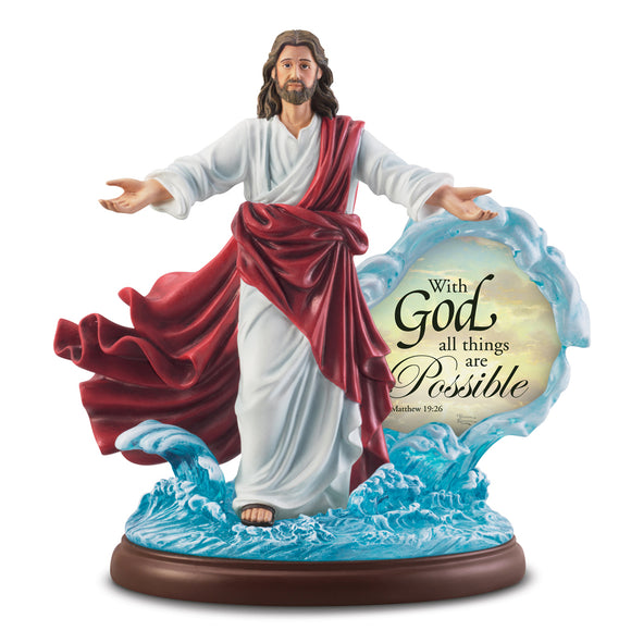 (J) JESUS FIGURINE *WITH GOD ALL THINGS ARE POSSIBLE* 0130083001-T SOLD OUT!