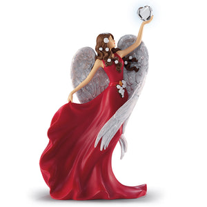 (F) VALENTINE FIGURINE - Heart of Faith Angel 0905160002-T