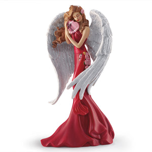(F) VALENTINE FIGURINE - Heart of Joy Angel 0905160003-T