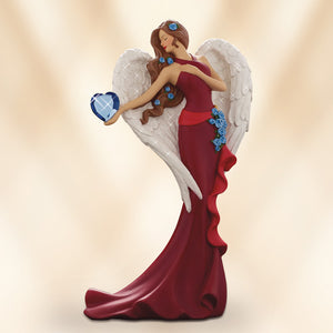 (F) VALENTINE FIGURINE - Heart of Wisdom Angel 0905160007-T