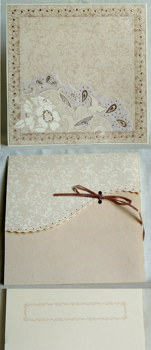 (W) Wedding I - Wedding Invitations - (18 x 18 cm) 110043-T