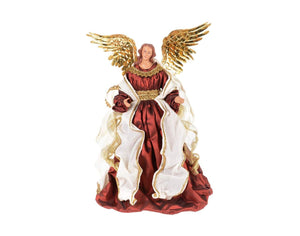 "Angel - 18"" Burgundy Beige Angel with Gold - 11A11T"