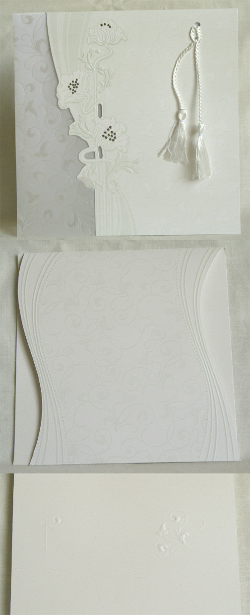 (W) Wedding I - Wedding Invitations - (18 x  18 cm) SCENTED 120028-T