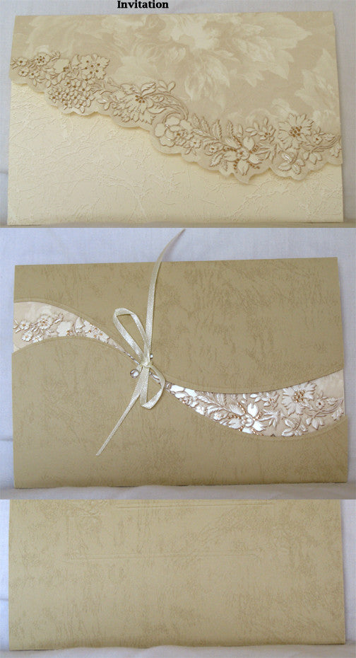 (W) Wedding I - Wedding Invitations - (18 x 12 cm) 150063-T