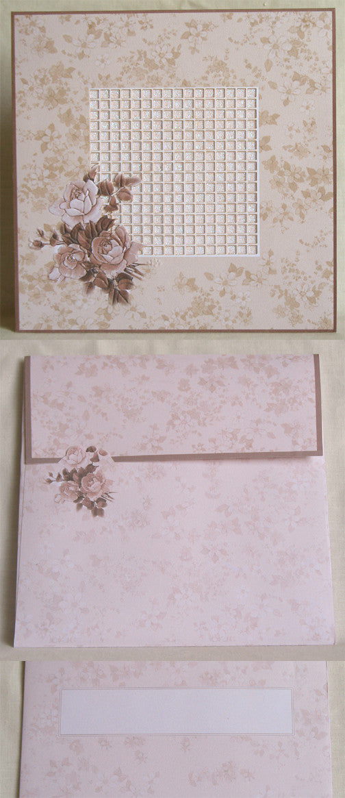 (W) Wedding I - Wedding Invitations - (18 x 18 cm) 170005-T
