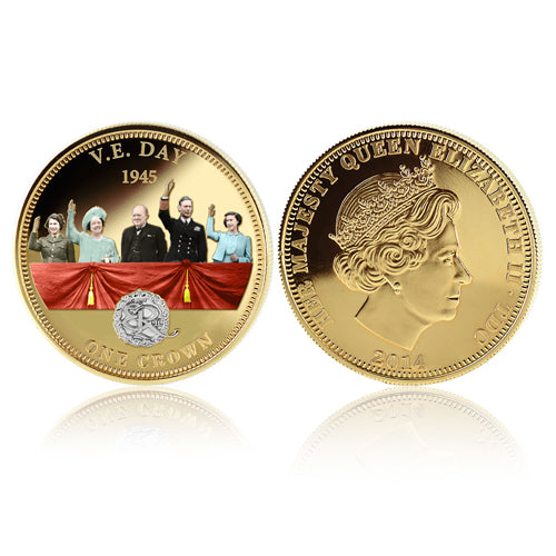 Royal Mint Coins - V.E. Day Golden Crown 1700839004-T