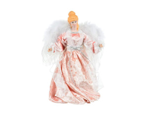 "Angel - 12"" Pink White Angel with Feathers - 4A4T"