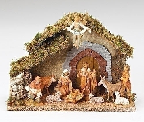 10 Piece Nativity Set with Italian Stable