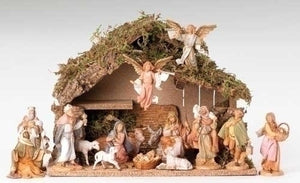 16 Piece Nativity Set with Italian Stable