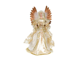 "Angel - 16"" Ivory Gold  Tree Topper - 7A7T"
