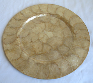(CA) Copper Colour Capiz Shell Charger Plate CPL203926S-T