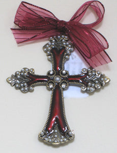 (C) Cross - Burgundy 14cm x 10.8 x 1cm