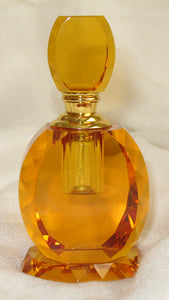 W - Crystal Perfume Bottle - Amber Colour 5.3 x 3.3 x 10.9 cm LIMITED EDITION