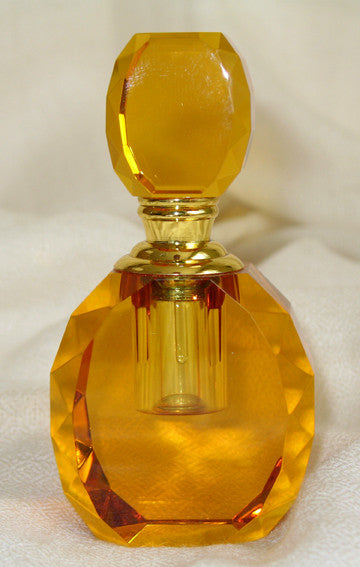W - Crystal Perfume Bottle - Amber Colour 5.0 x 3.0 x 9.6 cm LIMITED EDITION