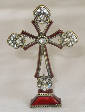 Cross - Burgundy 5.3cm x 8 x 1cm