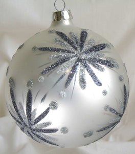 (CH) * Hand Decorated Mouth Blown Glass * Ball Christmas Ornament 10cm CTB0668-2-T