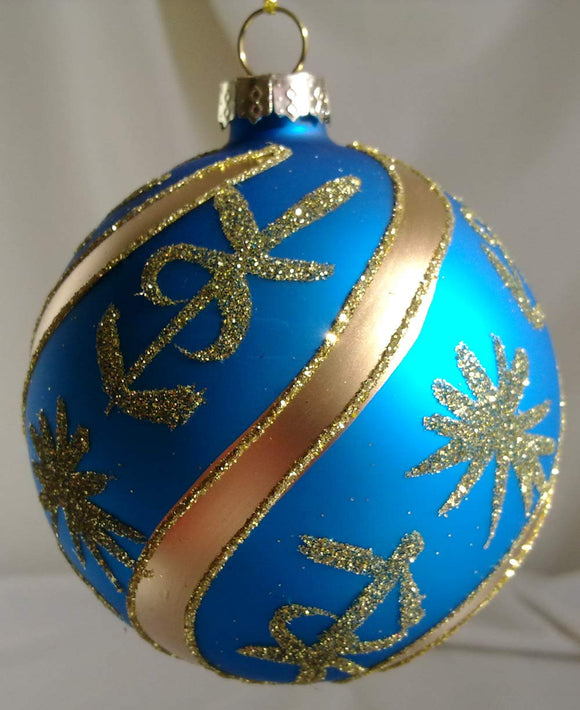 (CH) * Hand Decorated Mouth Blown Glass * Ball Christmas Ornament 8cm *SOLD OUT!*
