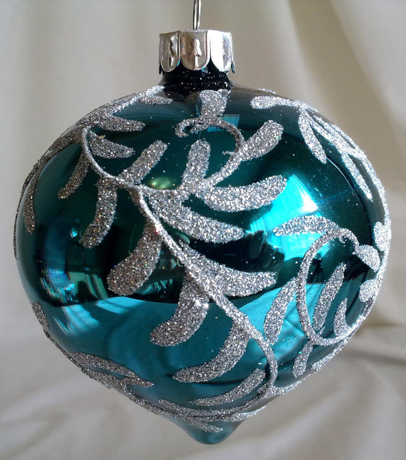 (CH) * Hand Decorated Mouth Blown Glass * Christmas Ornament Onion Small 8cm, Medium 10cm CTON0611-1-2-T SOLD OUT!