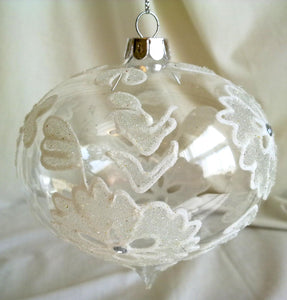 (CH) * Hand Decorated Mouth Blown Glass * Christmas Ornament Onion 10 cm CTON0648-2-T SOLD OUT!