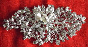 (W) Wedding H - Wedding Hair Jewelled Brooch 15.0cm x 7.0cm wide SOLD OUT!