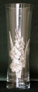 (P) 8.0 cm x 22 cm Pewter Glass Vase  *SOLD OUT!*