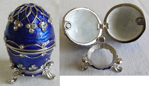 "(T) * Jeweled ""Faberge Style"" Egg * Trinket Box * SOLD OUT!"