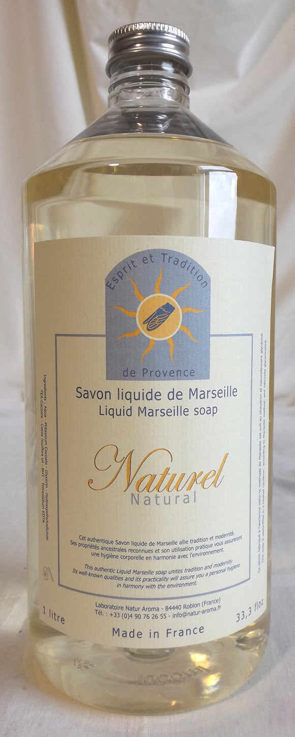(S) Marseille liquid soap 1000 ml refill - LIMITED STOCK - Fragrance free