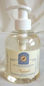 (S) Marseille liquid soap 300 ml with pump - LIMITED STOCK - Fragrance free