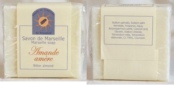 (S) Marseille Vegan Soap - Bitter Almond Fragrance 100 g