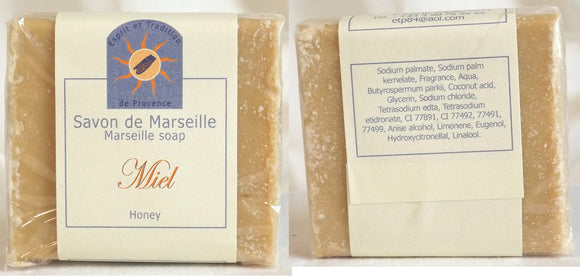 (S) Marseille Vegan Soap - Honey Fragrance 100 g