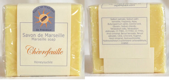 (S) Marseille Vegan Soap - Honeysuckle Fragrance 100 g