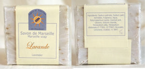 (S) Marseille Vegan Soap - Lavender Flower 100 g - With pieces of  Lavender Flower - exfoliating
