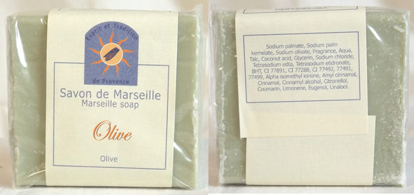 (S) Marseille Vegan Soap - Olive Fragrance - 100 g