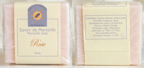 (S) Marseille Vegan Soap - Rose Fragrance - 100 g