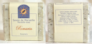 (S) Marseille Vegan Soap - Rosemary Flower - 100 g - With pieces of Rosemary Flowers - exfoliating