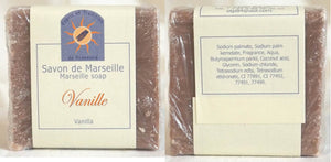 (S) Marseille Vegan Soap - Vanilla Fragrance 100 g