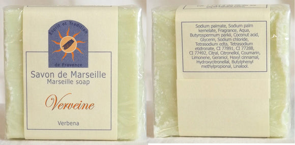 (S) Marseille Vegan Soap - Verbena Fragrance 100 g