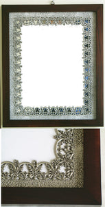 (P) Pewter Wall Mirror 28.0 x 33.6 x 1.6 cm *SOLD OUT!*