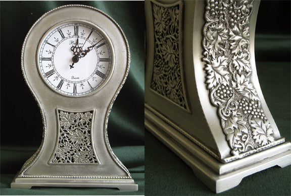 (P) Pewter Antique-Like Mantle Clock - LIMITED EDITION! PM-083