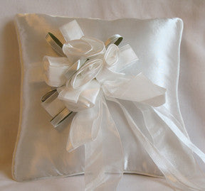 (W) Wedding P - Bouquet of Roses Ring Bearer Pillow - Ivory - RPI97692-T