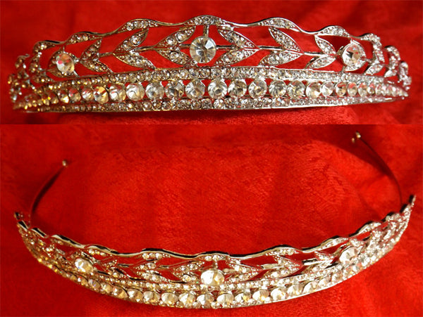 Wedding Hair Jewelled Bridal Tiara 3.0cm high