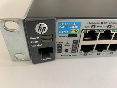 HP Router Modules/Cards/Adapters HP 2530-48 PoE+ Switch J9778A - 48 Ports - Ethernet Network Switch
