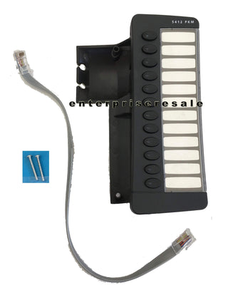 Mitel IP Phone Mitel 5412 PKM 12 Button Programmable Key Module (50002822) w/ screws, desi & cord