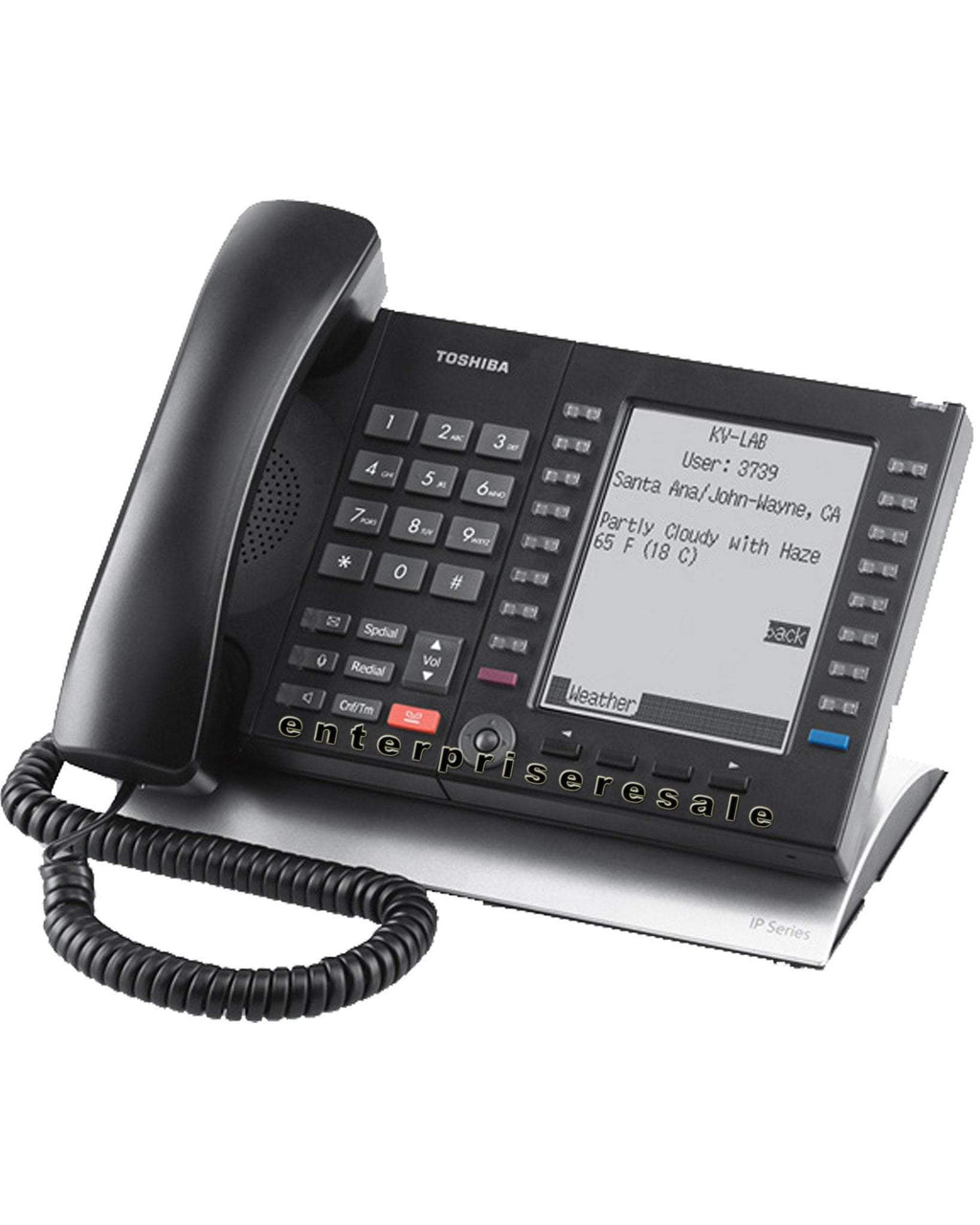 Toshiba IP Phone Toshiba (IP5131-SDL) IP Phone 20 Button Speaker Display Refurbished