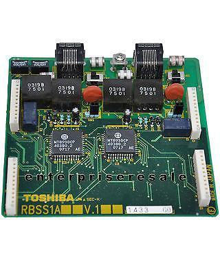 Toshiba Phone Switching Systems, PBXs TOSHIBA (RBSS1A) V.1 PCB attaches to RBSU 2 ISDN BRI RBSS