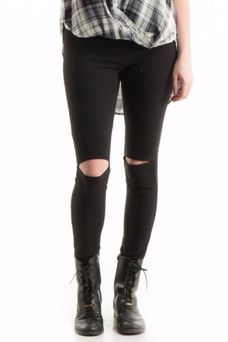 Cut Out Leggings Black